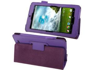 Lichi Texture Leather Case with Holder for ASUS MeMo Pad ME172V  (Purple)