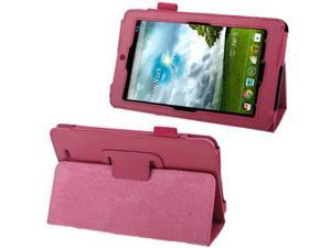 Lichi Texture Leather Case with Holder for ASUS MeMo Pad ME172V  (Magenta)