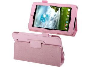 Lichi Texture Leather Case with Holder for ASUS MeMo Pad ME172V  (Pink)
