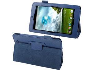 Lichi Texture Leather Case with Holder for ASUS MeMo Pad ME172V  (Blue)