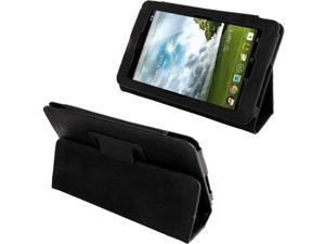 Leather Case with Holder for ASUS MeMo Pad ME172V  (Black)