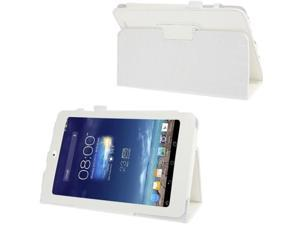 Litchi Texture Flip Leather Case with Holder for Asus MeMO Pad 8 / ME180A  (White)
