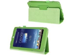 Litchi Texture Flip Leather Case with Holder for Asus MeMO Pad 8 / ME180A  (Green)