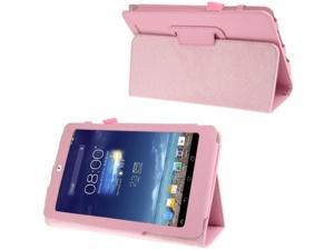 Litchi Texture Flip Leather Case with Holder for Asus MeMO Pad 8 / ME180A  (Pink)