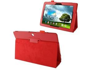 Litchi Texture Leather Case with Holder for Asus MeMO Pad FHD 10 / ME302C  (Red)