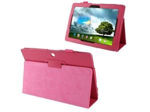 Litchi Texture Leather Case with Holder for Asus MeMO Pad FHD 10 / ME302C  (Magenta)
