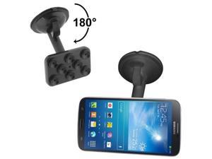 Universal Rotating Suction Cup Car Holder / Desktop Stander, Suitable for Samsung Galaxy S4 / i9500 / i9300 / i9200, iPhone 5C / 4S etc.  (Black)