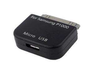 Micro USB Adapter Converter for Samsung Galaxy Tab / P1000 /Galaxy Tab 8.0 / N5100 / Galaxy Tab 2 / P3100 / Galaxy Tab 8.9 / P7300 / Galaxy Tab 10.1 / P7500 / P6200 / P6800 (Black)