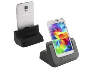 2 in 1  (Dock Charger + Extra Battery Charger) USB Charging Cradle for Samsung Galaxy S5 / G900, Black
