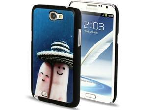 QYG Q-case High Quality Lover Series Fingers Pattern Plastic Protective Case for Samsung Galaxy Note 2 / N7100