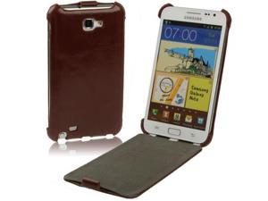 Leather Case for Samsung Galaxy Note / i9220 / N7000, Note LTE / N7005(Brown)