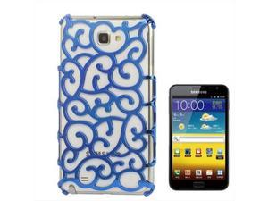Chinese Hollow Vines Style Plating Protective Shell for Samsung Galaxy Note / i9220 / N7000, Note LTE / N7005 (Blue)