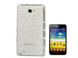 Chinese Hollow Vines Style Plating Protective Shell for Samsung Galaxy Note / i9220 / N7000, Note LTE / N7005 (White)