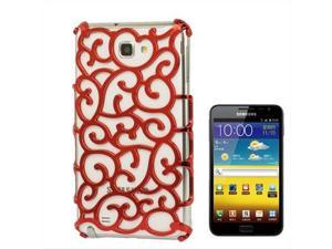 Chinese Hollow Vines Style Plating Protective Shell for Samsung Galaxy Note / i9220 / N7000, Note LTE / N7005 (Red)