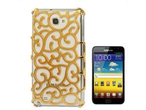 Chinese Hollow Vines Style Plating Protective Shell for Samsung Galaxy Note / i9220 / N7000, Note LTE / N7005 (Yellow)