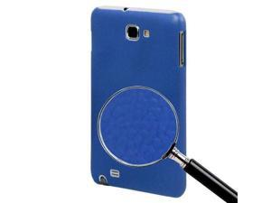 Pebble Texture Plastic Protective Case for Samsung i9220 / N7000 (Blue)