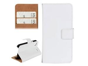 Horizontal Flip Top-grain Leather Case with Card Slots & Holder for Samsung Galaxy S / i9000(White)