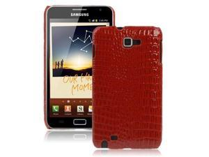 Crocodile Skin Paste Style Plastic Case for Samsung Galaxy Note / i9220 / N7000, Note LTE / N7005 (Red)