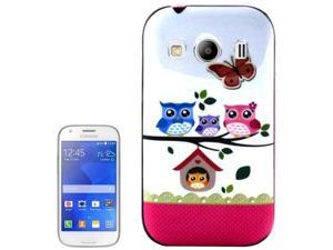 Owl Family Pattern Plastic Frame TPU Back Cover Protective Case for Samsung Galaxy Ace Style LTE / G357FZ