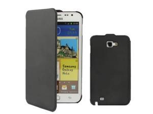Hight Quality Flip Case for Samsung Galaxy Note i9220 / N7000,Note LTE / N7005, Black (Original version)(Black)