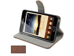 Genuine Folding Leather Case for Samsung Galaxy Note / i9220 / N7000, Note LTE / N7005(Brown)