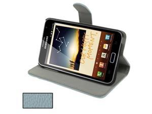 Genuine Folding Leather Case for Samsung Galaxy Note / i9220 / N7000, Note LTE / N7005 (Bluish Grey)