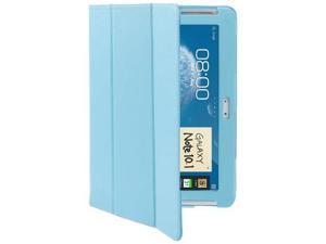 3-fold Litchi Texture Leather Case with Holder for Samsung Galaxy Note  (10.1) / N8000 / N8010  (Baby Blue)