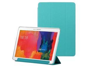 3-folding Toothpick Texture Leather Case with Holder for Samsung Galaxy Tab Pro 10.1 / T520  (Blue)