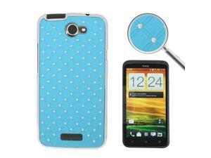 Luxury Bling Diamond Plating Skinning Plastic Case for HTC One X / S720e  (Blue)