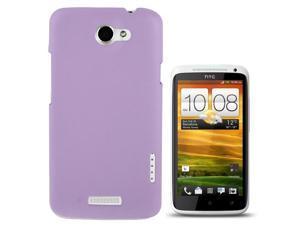 Lichi Texture Plastic Case for HTC One X / S720e    (Light Purple)