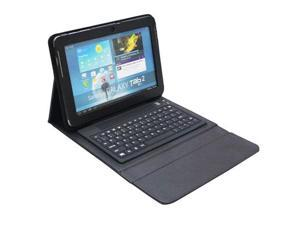 HT-P51000  PU Leather Case with Removable Bluetooth Keyboard for Samsung Galaxy tab 2 10.1 P5100 / P5110  (Black)