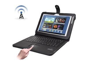 Leather Case for Samsung Galaxy Note 10.1 / N8000 with Bluetooth Keyboard , Built in Touchpad  (Black)