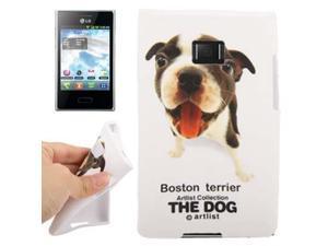 The Dog Series Boston Terrier Pattern TPU Case for LG Optimus L3 /  E400