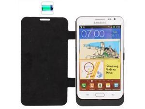 3600mAh Portable Power Bank External Battery + Flip Leather Case for Samsung Galaxy Note i9220 / N7000 (Black)