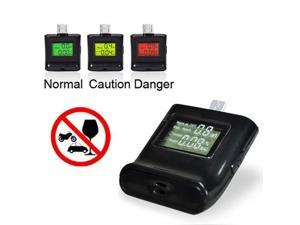 Alcohol Tester with 3-color Backlight for Samsung Galaxy S IV / S III / SII / N7100 / HTC One X / Sony Xperia ST25i  (Black)