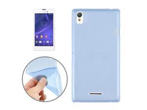 0.45mm Ultra-thin Polycarbonate Material TPU & Jelly Case for Sony Xperia T3 (Blue)