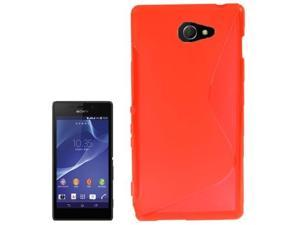S Line Anti-skid Frosted TPU Case for Sony Xperia  M2 / S50h  (Red)