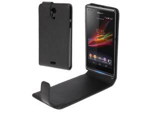 Vertical Flip Leather Case for for Sony Xperia ZR / M36h (Black)