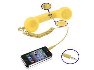 Retro Cell Phone Receiver with Pick up and Hang up / Volume Control Function for iPhone 4 & 4S / iPhone 3GS / iPhone 3G  (Yellow)