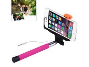 Portable Selfie Stick Monopod Extendable Handheld Holder, Max Length: 100.9cm (Magenta)