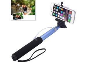 Portable Aluminium Alloy Selfie Stick Monopod Extendable Handheld Holder, Max Length: 100cm (Blue)