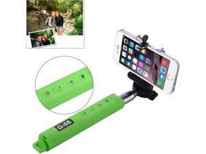 Portable Bluetooth Selfie Stick Monopod Extendable Handheld Holder, Max Length: 110cm (Green)