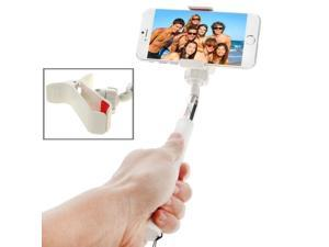 Extendable Selfie Self-portrait Handheld Monopod with Adjustable Folder For iPhone 6 Plus & 6 / Samsung / HTC / Sony, Phone, Camera (White)