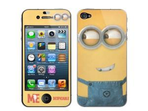 2 in 1  (Front Screen + Back Cover) Despicable Me Pattern Film Screen Protector for iPhone 4 & 4S  (CS-118)