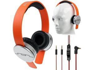 SOL Republic Tracks Headphones with Music Control and Mic for iPhone 5 & 5S & 5C , iPhone 4 & 4S , iPhone 3G & 3GS  (Orange)