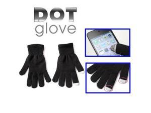 Dot Gloves of touch screen for iPhone 5, iPhone 4 & 4S, iPhone 3G/3GS, iPhone, iPad, BlackBerry (Black)