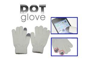 Dot Gloves of touch screen for iPhone 5, iPhone 4 & 4S, iPhone 3G/3GS, iPhone, iPad, BlackBerry (White)