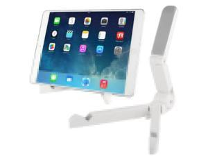 Piega Portatile Stand, Fold up Stand for New iPad / iPad 2 / Galaxy Note 2 / Galaxy Note 3 / Galaxy Tab / Tablet PC 7 inch to 10 inch (White)
