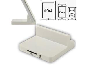 USB Data Charge Sync Dock Station Stand Charger for New iPad  (iPad 3)/iPad 2 / iPad / iPhone 4 & 4S / 3GS/ 3G / iPod (White)