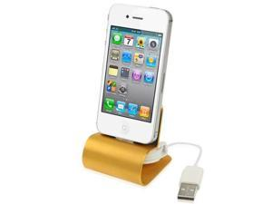 Retractable USB Cable Aluminum Alloy Dock Charger for iPhone 4 & 4S / 3GS / 3G